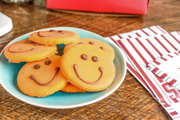 Iced Smiley Face Cookie
