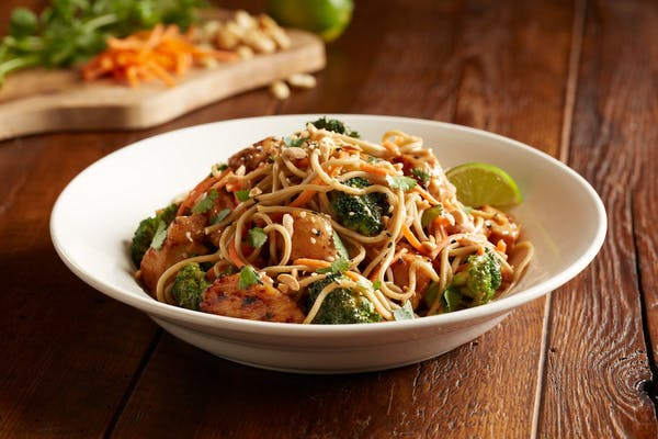 Enlightened Spicy Peanut Chicken With Soba Noodles