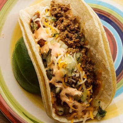 Seasoned Ground Beef Taco
