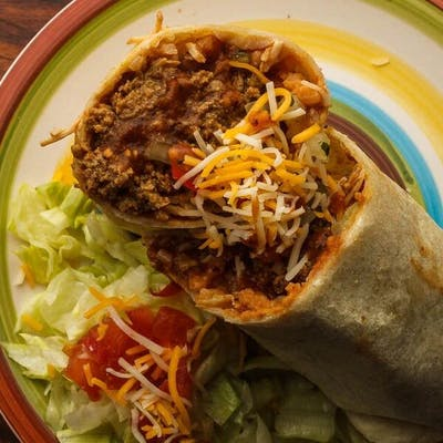 Seasoned Ground Beef Burrito
