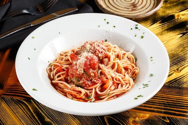 Spaghetti & 14 Farms Meatball Pomodoro