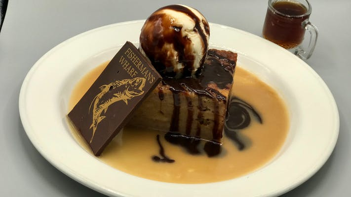 """""""OUR SIGNATURE DESSERT"""" ROOT BEER BREAD PUDDING"""
