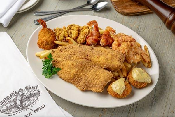 Fisherman's Wharf's Fried Seafood Platter