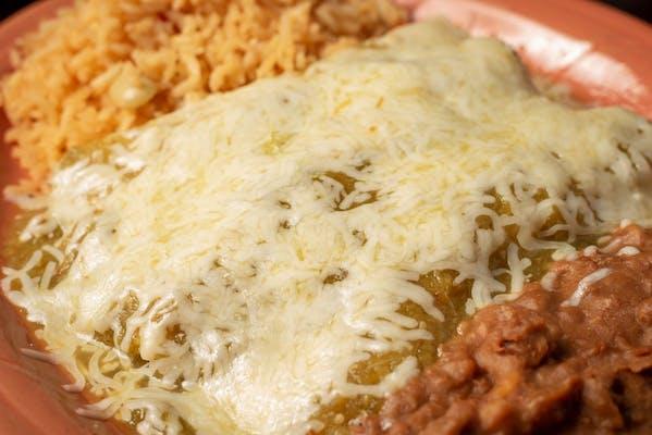#37 Green Chicken Enchiladas