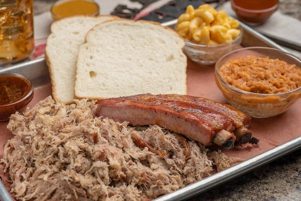 Rib & Pulled Pork Combo Plate