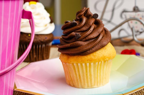 Vanilla with Chocolate Buttercream Cupcake