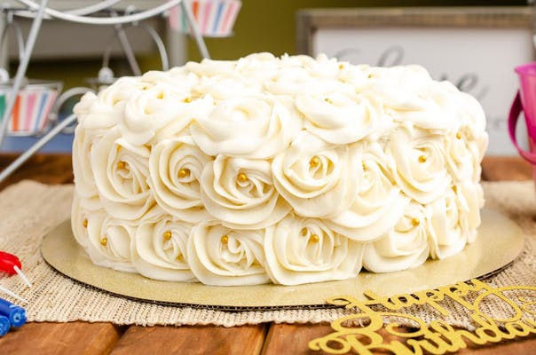 Two-Person Rosette Birthday Cake