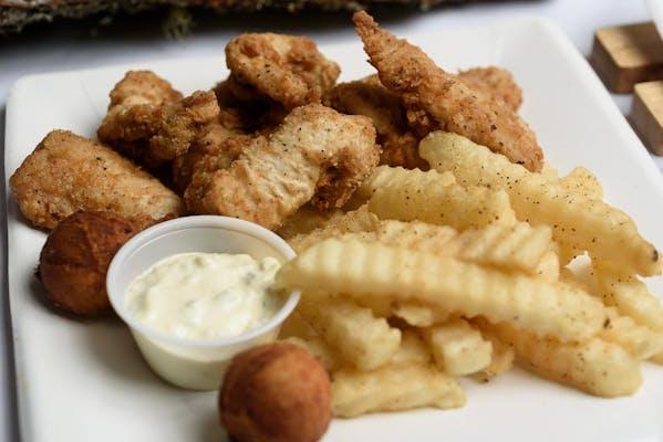 Catfish Nuggets & Hushpuppies
