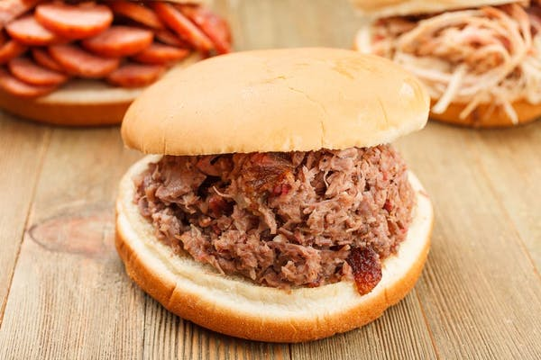 Chopped Brisket BBQ Sandwich