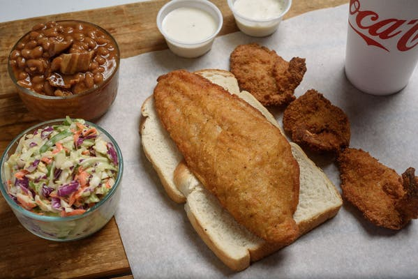 Fried Catfish & Fried Shrimp Plate