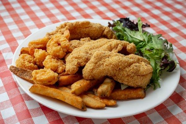 Catfish & Shrimp Dinner