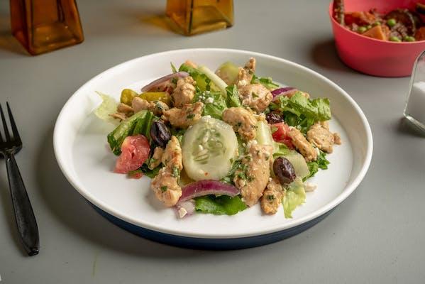 Greek Salad & Honey Mustard Chicken