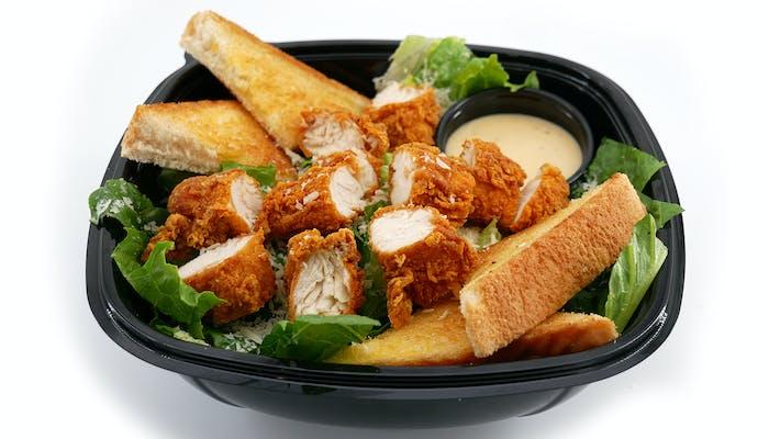Caesar Salad with Hand Breaded Tenders