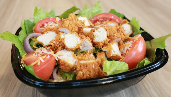 House Salad with Hand-Breaded Tenders