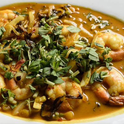 Coconut & Curry Shrimp (Spicy)