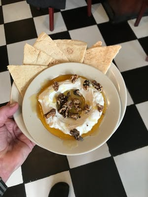 Labneh with Honey & Walnuts