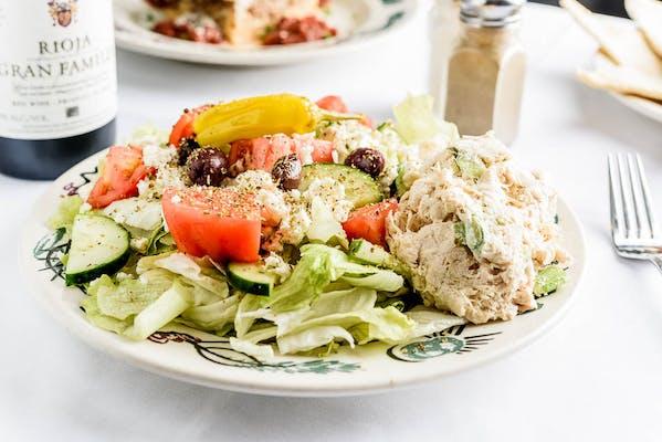 Nabeel's Greek Salad with Chicken Salad