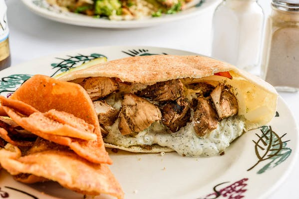 Grilled Chicken Souvlaki Sandwich