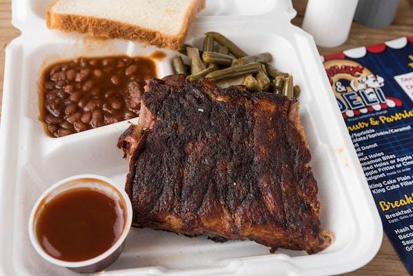 Rib Plate Lunch