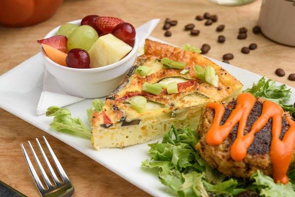 Garden Frittata Plate