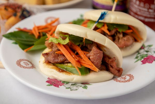 A8 Steamed Buns with Grilled Pork or Chicken