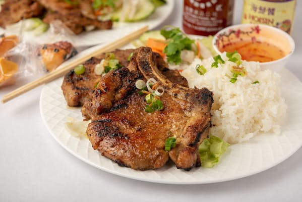C4 Grilled Pork Chop Rice Plate