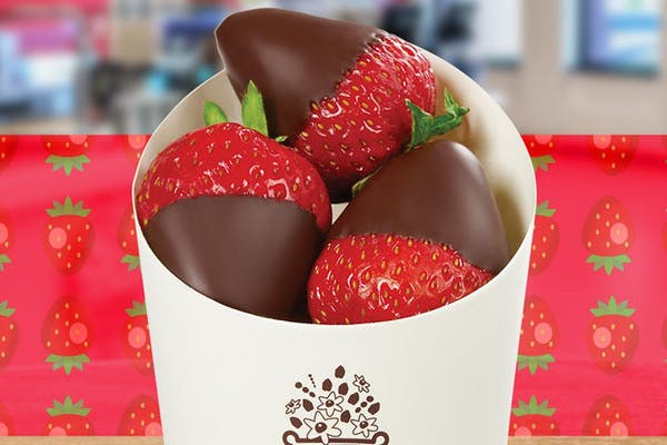 Chocolate-Dipped Fruit Cone