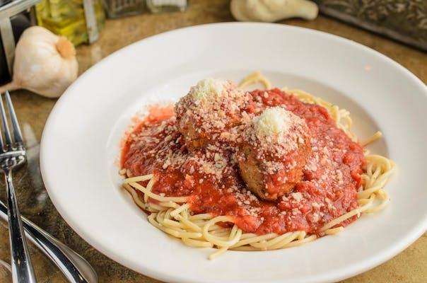 Spaghetti & Meatballs or Meat Sauce