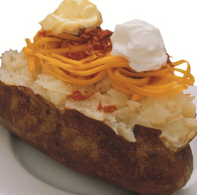 Side Loaded Baked Potato