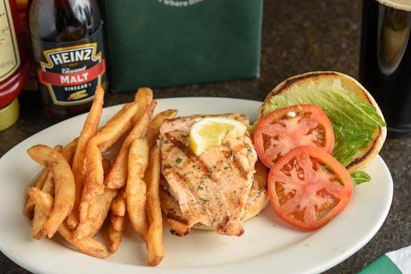 Grilled Alaskan Salmon Sandwich