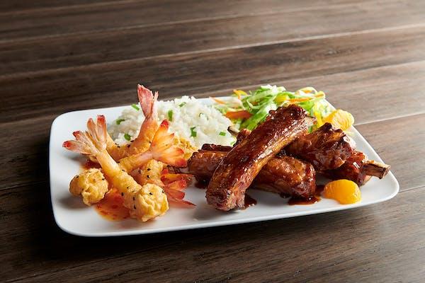 Asian Shrimp & Rib Combo