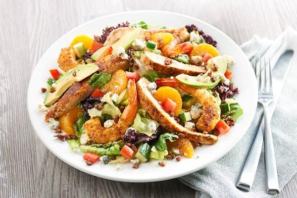 Blackened Chicken & Shrimp Salad