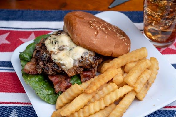 Porky Bleu Burger