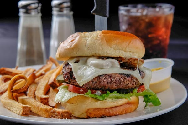 Mushroom & Swiss Steak Burger