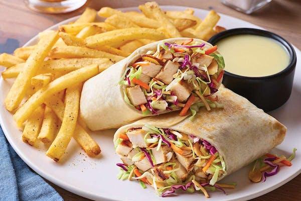 Oriental Grilled Chicken Salad Wrap
