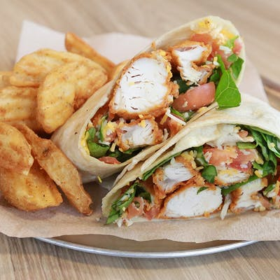 Grilled Chicken Wrap Basket