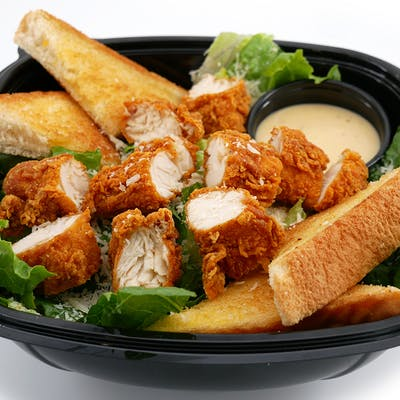 Caesar Salad with Hand-Breaded Tenders