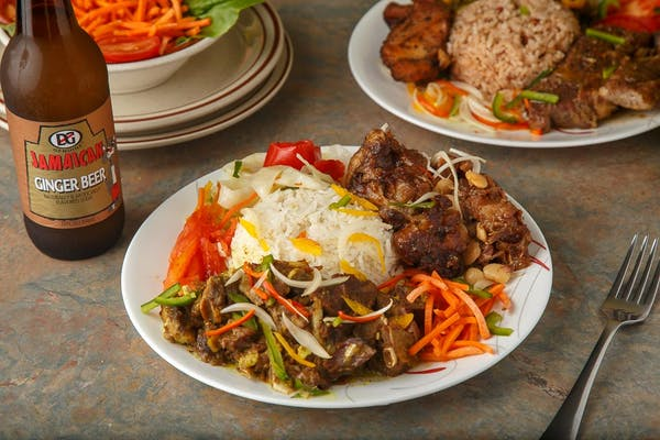 Lunch Jerk Pork & Curry Chicken