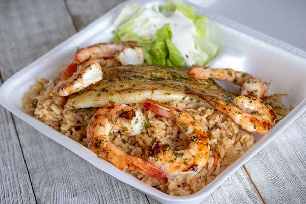 Grilled Fish & Shrimp Platter
