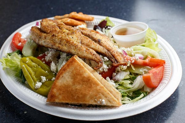Grilled Redfish Salad