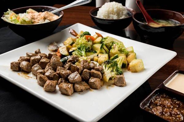 Steak, Salmon, or Shrimp Hibachi