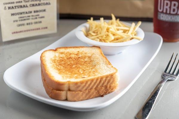 Kid's Grilled Peanut Butter Fluff Sandwich