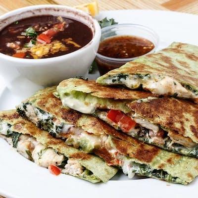 Chicken Spinach Quesadillas
