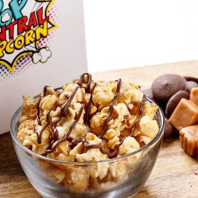 Chocolate Caramel Drizzle Popcorn