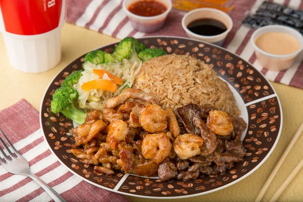 Chicken, Shrimp & Beef Teriyaki