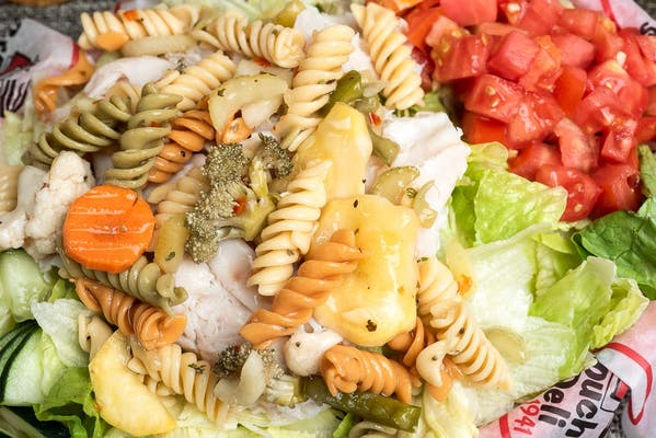 Turkey, Pasta & Greens Salad