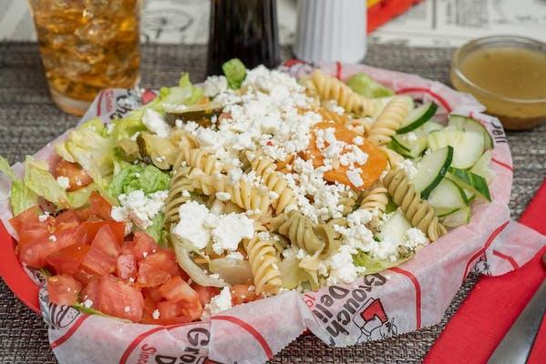 Pasta, Greens & Feta Salad