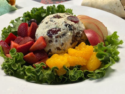 Pecan Grape Chicken Salad with Fresh Local seasonal fruits