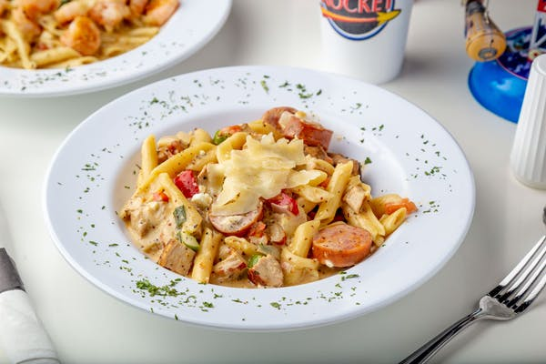 Rocket Creole Sausage & Chicken Pasta