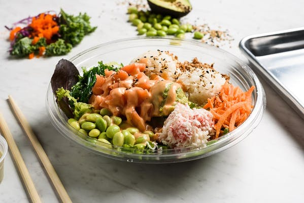 California Sunshine Poke Bowl